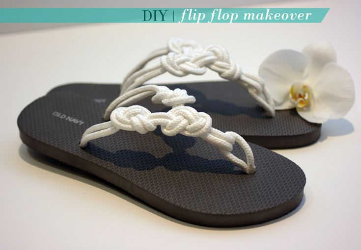 Knotted rope flip flops