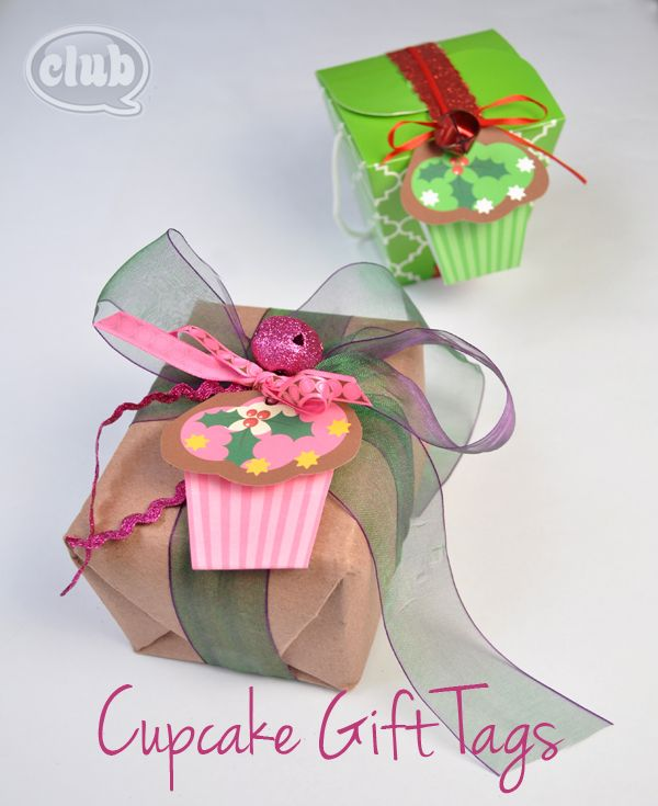 Cupcake gift tags with free printable @clubchicacircle