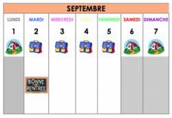 calendrier annuel
