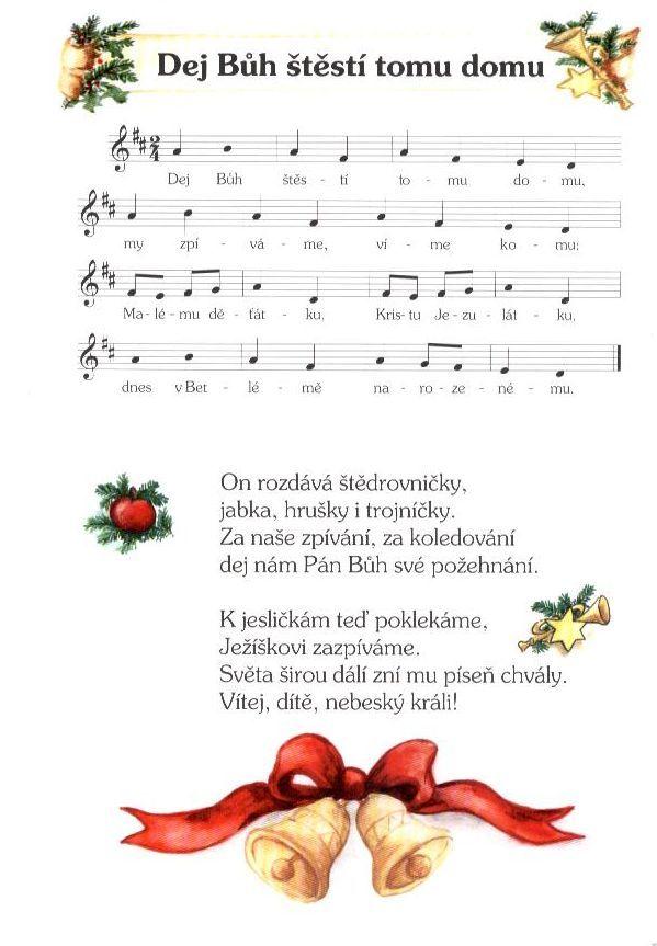 notový zápis vánoční koledy - Hledat Googlem