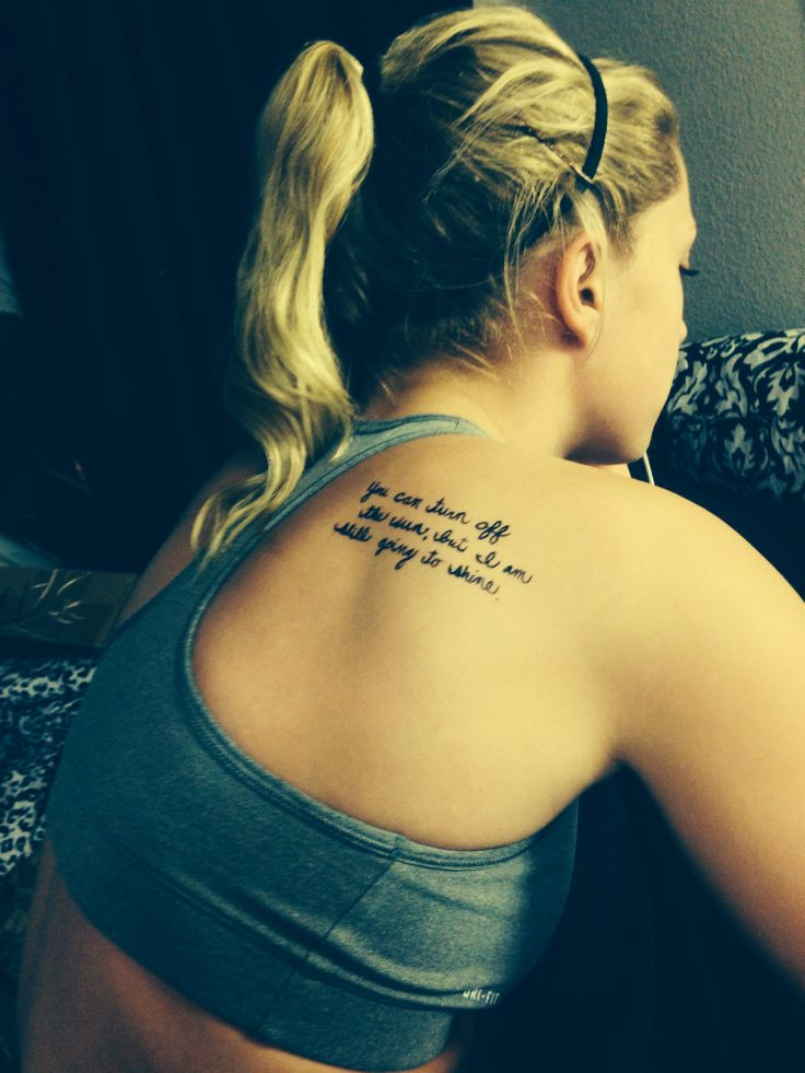 25 unique back quote tattoos ideas on pinterest for Back tattoos for girls quotes