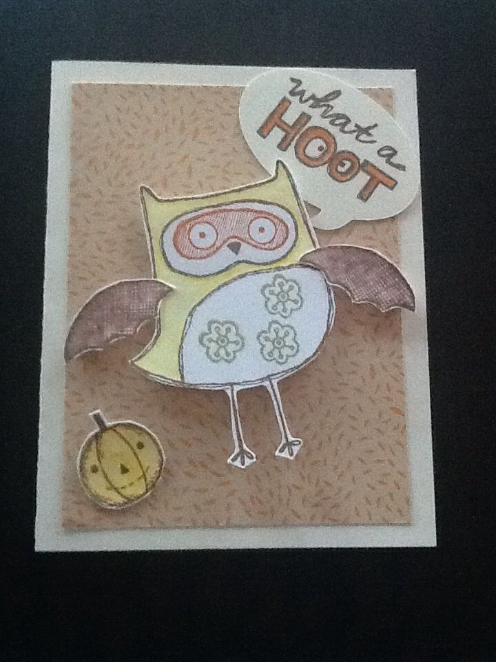 August stamp of the month using stamps & watercolour pencils from CTMH