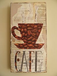 Coffee/Cup collage on canvas
