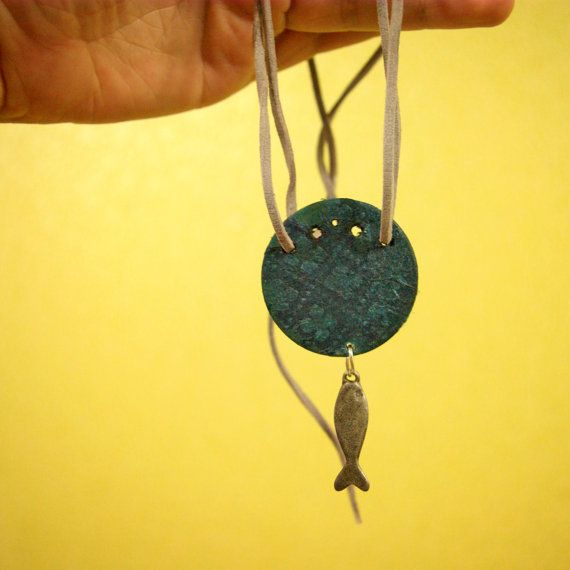 Fish Necklace by lithuanian artist Agne Latinyte (aka yuujin, yuujinaga) on Etsy shop