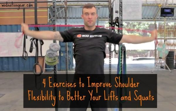 Shoulder pain is common among weightlifters and it is often due to poor flexibility. Try these 4 exercise to improve shoulder flexibility and better your lifts!
