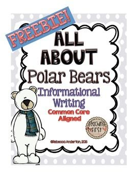 This polar bear writing paper can be used for writing a report on polar bears (see my All About Polar Bears Informational Writing packet or just to have a cute winter writing paper for your students to use.   I hope you enjoy!