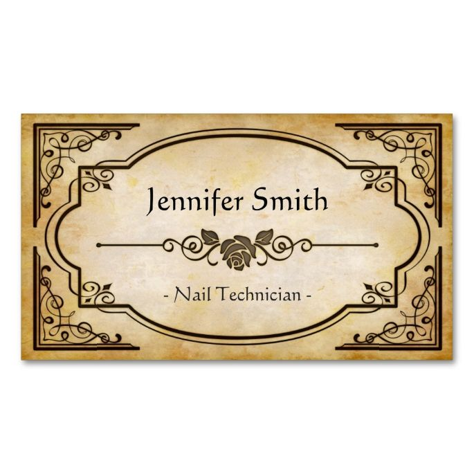 2148 best teacher business cards images on pinterest teacher nail technician elegant vintage antique business card reheart Gallery