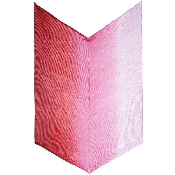 Franco Ferrari Ombré plissé pleated silk scarf (€235) ❤ liked on Polyvore featuring accessories, scarves, pink, chevron print scarves, franco ferrari, ombre scarves, pure silk scarves and pink silk scarves