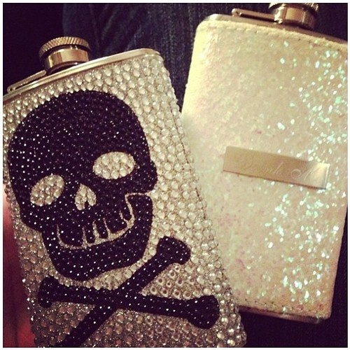 EVERY MERMAID NEEDS A PIRATE-Skull flask