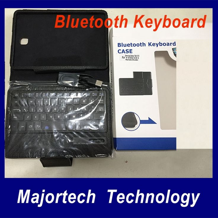 26.21$  Know more  - For Samsung Galaxy Tab 4 10.1 T530 T531 Bluetooth Silicon Wireless Keyboard Teclado Stand Tab4 PU Case Cover Black Free Shipping