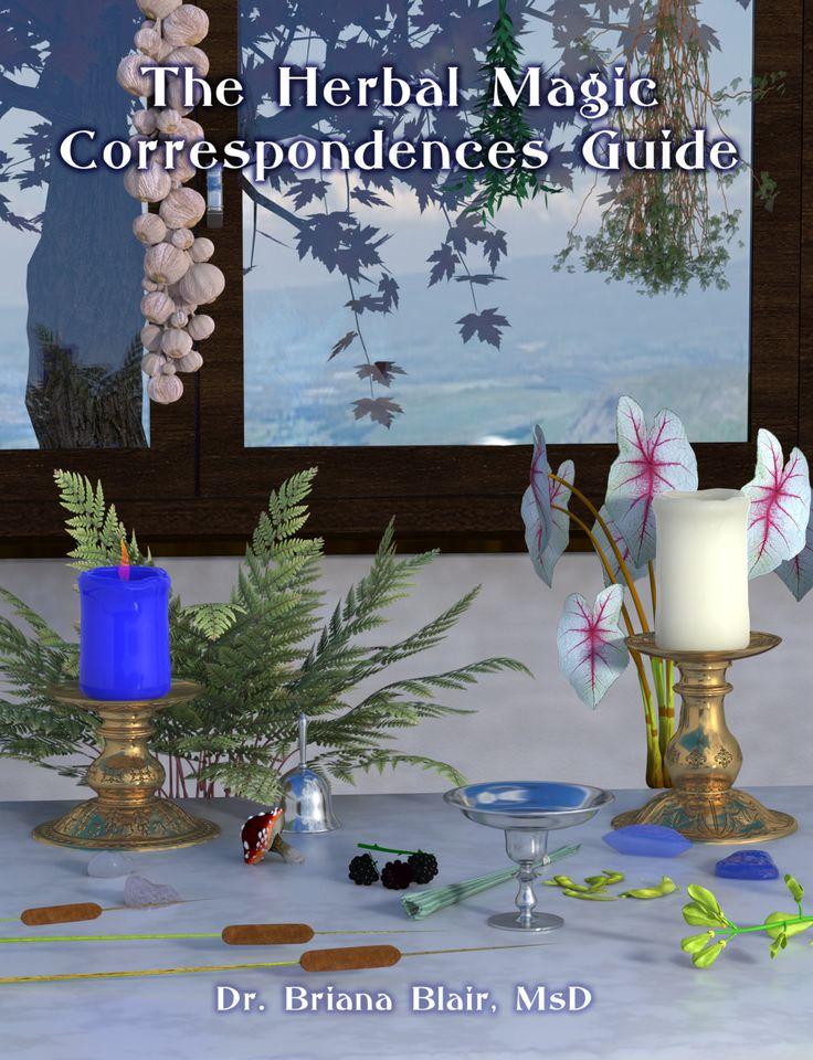The Herbal Magic Correspondences Guide By Dr. Briana Blair, MsD Ebook Metaphysical Wiccan Pagan Herbalism
