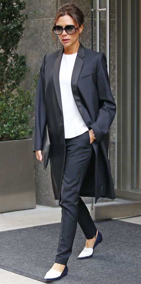 Style Lessons We Learned from Being Obsessed with Victoria Beckham - Lesson: Give Menswear a Feminine Spin - from InStyle.com