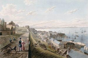 La basse-ville de Québec et le château Saint-Louis, vus du parapet de la haute-ville, 1833