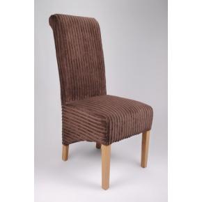 Krista Jumbo Cord Dining Chair Brown  www.easyfurn.co.uk