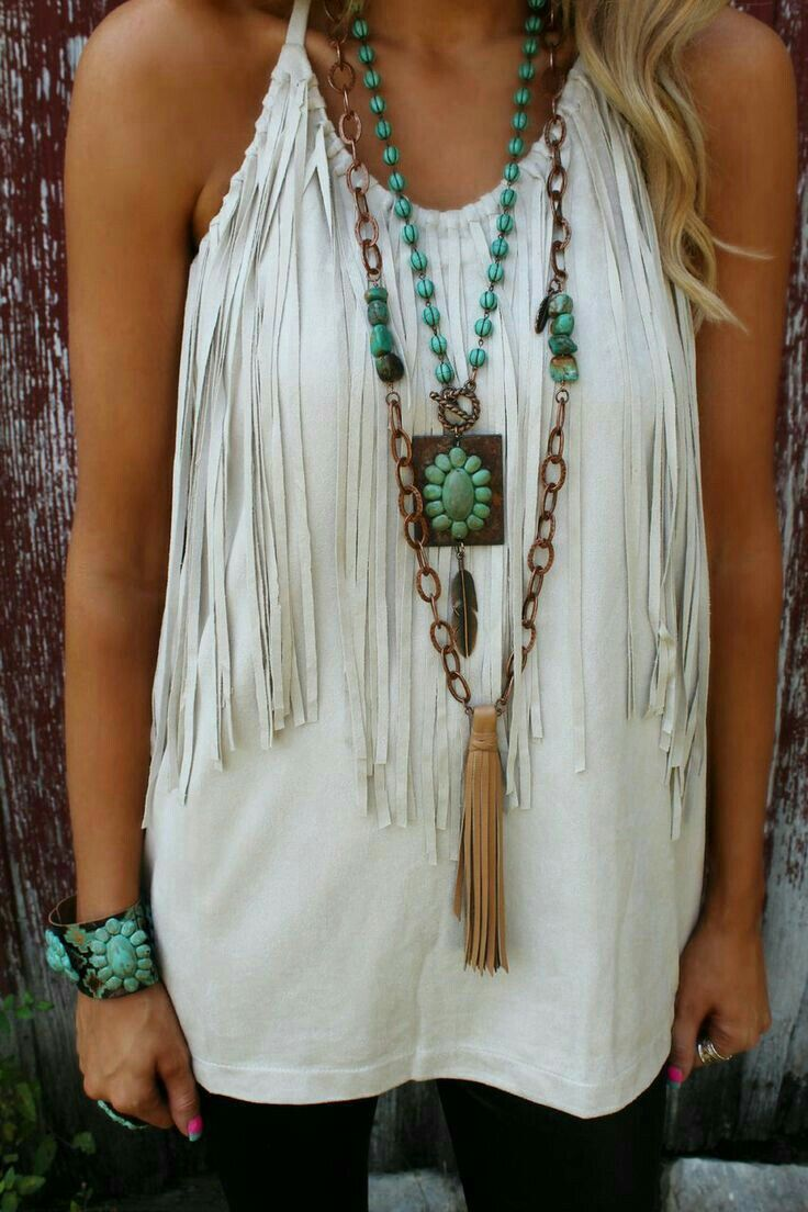 Just one necklace would look better, but loving this!