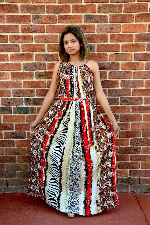 Free size maxi dress available to order now from www.axori.com.au