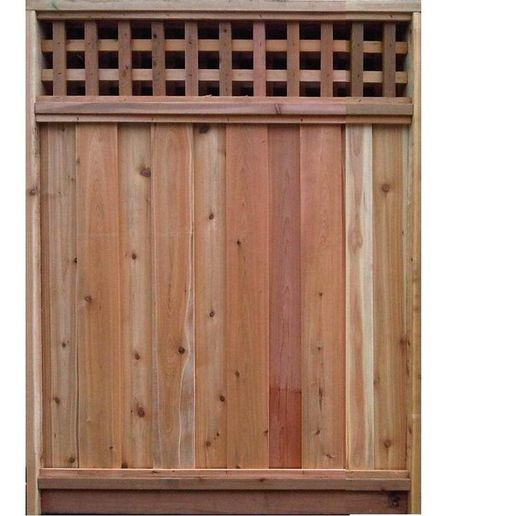 Cedar Lattice Panels ~ Cedar lattice top fence panels woodworking projects plans