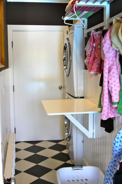 Love this little folding table for the laundry room ours for Small fold down laundry table