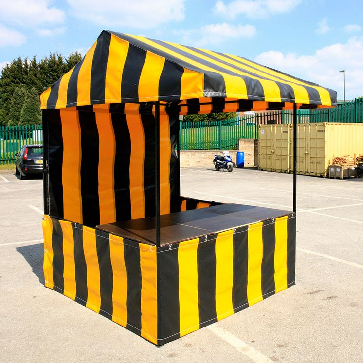 Customised 6ft x 6ft Food Market Stall with Black / Yellow PVC Roof Canopy and Sides & 30 best Printed and Branded Market Stalls images on Pinterest
