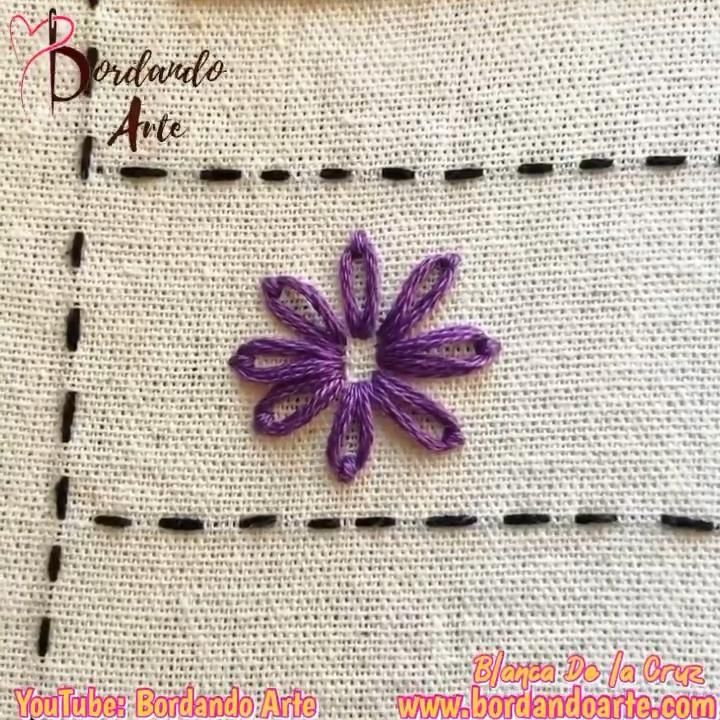 41 puntadas para tu muestrario. Mira el tutorial completo en mi canal de Youtube: Bordando Arte Hand Embroidery Videos, Embroidery Stitches Tutorial, Embroidery Flowers Pattern, Hand Embroidery Designs, Embroidery Techniques, Creative Embroidery, Simple Embroidery, Learn Embroidery, Diy Sweatshirt