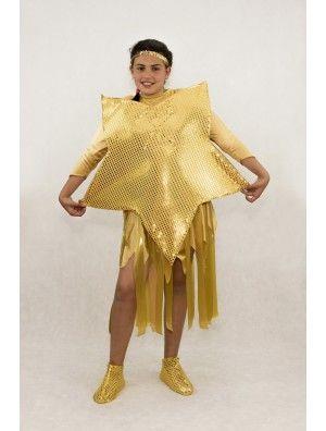 Comprar disfraz de Estrella Dorada para niñas.  Disfraz especial para el Festival de Navidad donde todos los niños se disfrazan con ilusión. ¡Envío 3,95€!