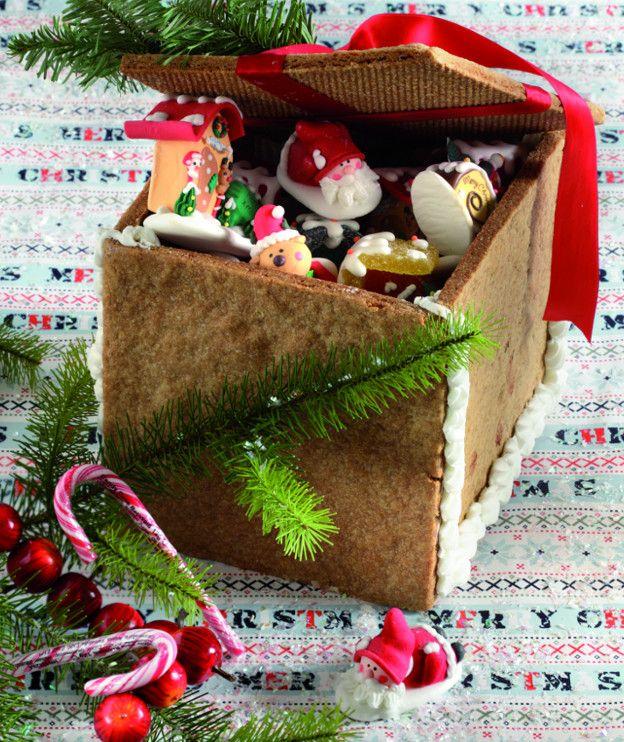 Μπισκοτένιο κουτί για ζαχαρωτά