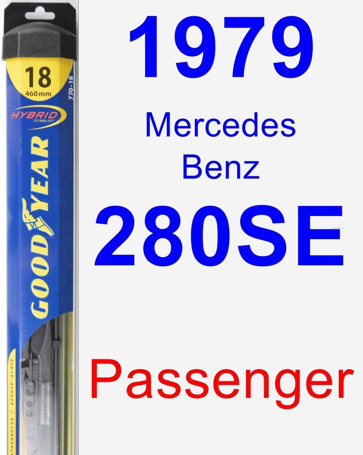 Passenger Wiper Blade for 1979 Mercedes-Benz 280SE - Hybrid