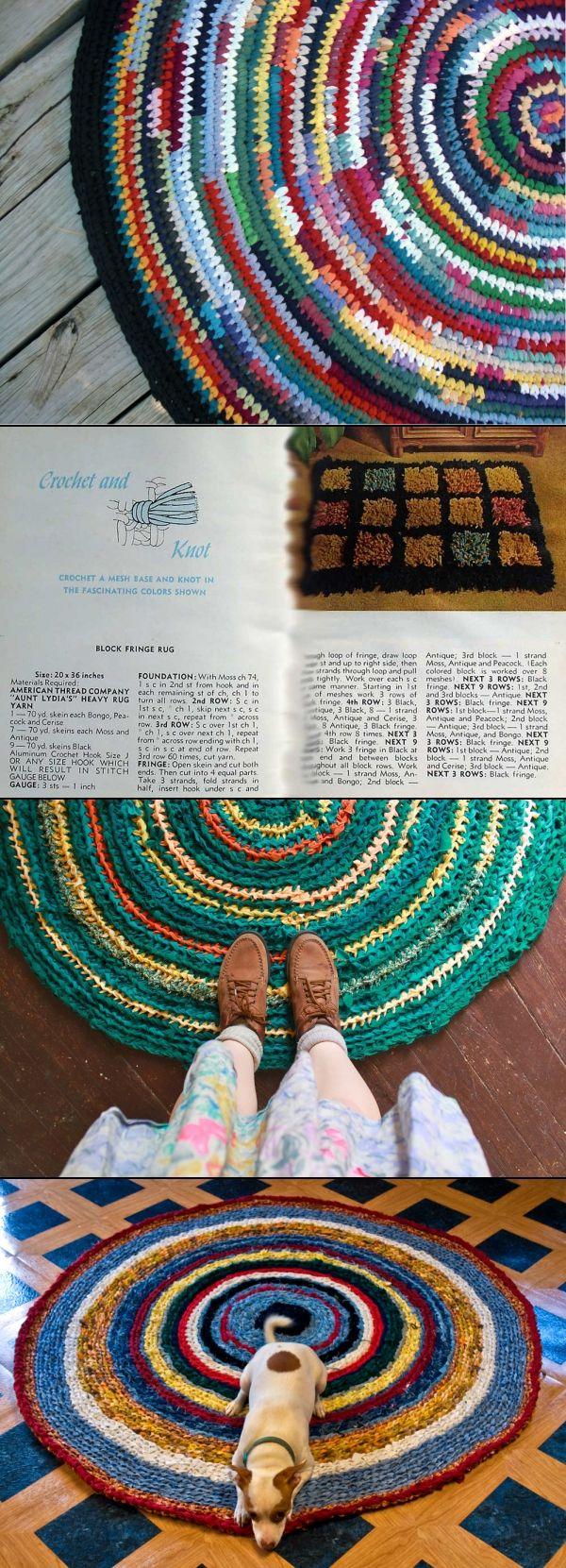 Crochet Rag Rugs - Ideas & Inspiration.