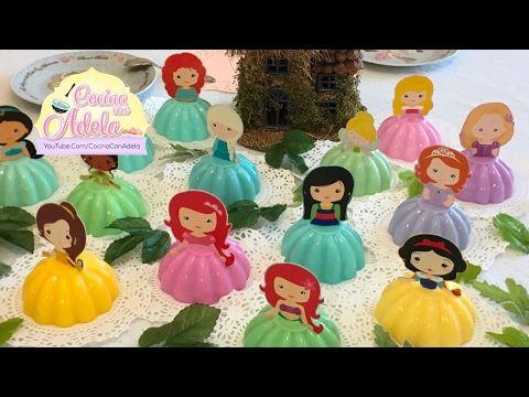 Como hacer gelatinas de Minnie Mouse individuales - YouTube