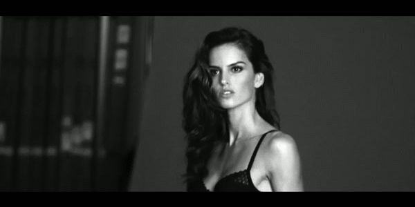 Backstage with S/S15 campaign star Izabel Goulart.