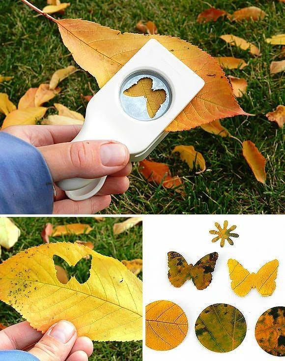mintalyukasztóval falevélből - With hole puncher out tree leaf