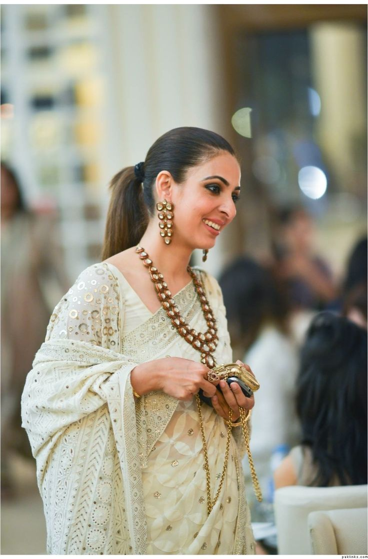 An amazing embroidered saree with kundan jewels. #ohnineone