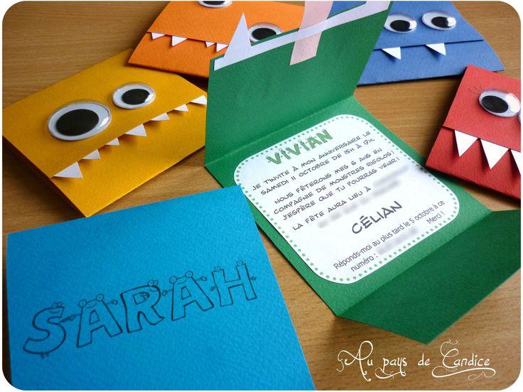idée carte invitation anniversaire 10 ans