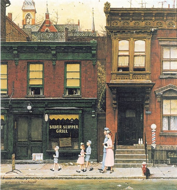 Norman Rockwell: Rockwell Art, Walking, Norman Rockwell Paintings, Artworks, Church, Illustrations, Artists Norman, Saturday Evening Posts, Rockwell Walks