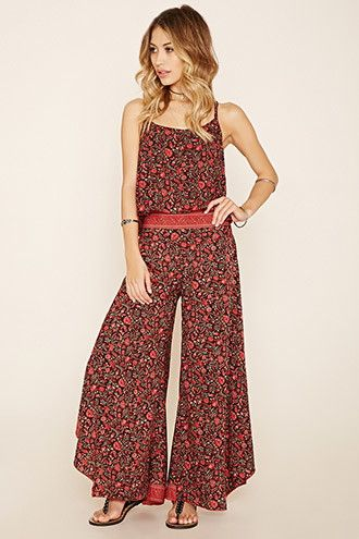 R by Raga Floral Wide-Leg Pants