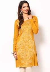Look like a dream as you wear this kurta, in yellow colour, from the house of W. This regular-fit kurta is made from acrylic, which ensures complete comfort and breathability to the wearer.