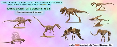 On Sale Now!  Anatomically Correct Dinosaurs Volume One  A makeCNC&n… – CNC Router Projects