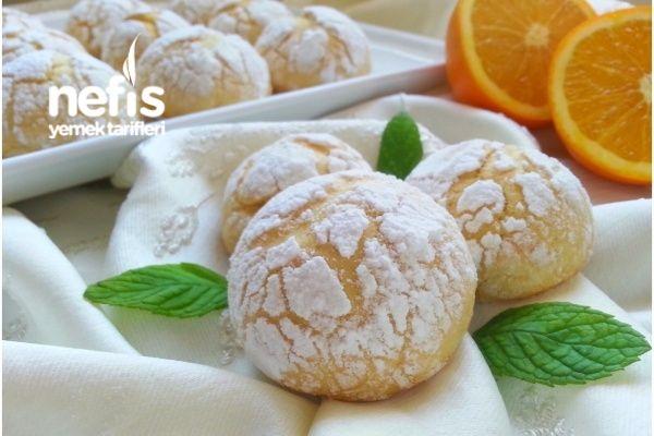 Mis Kokulu Portakallı Çatlak Kurabiye (Çok Hafif)