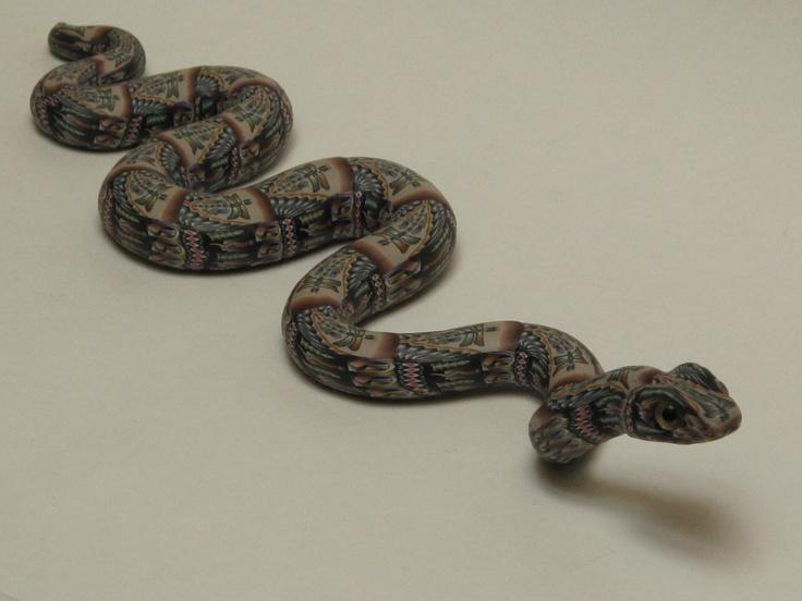 jon anderson fimo creations snake