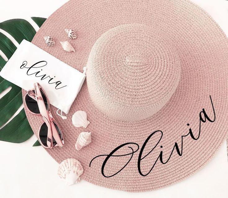 63b5655a3 Custom Floppy Sun Hat for Honeymoon in 2019   DIY Bridesmaid ...