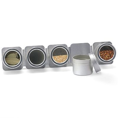 5-Canister Magnetic Spice Rack
