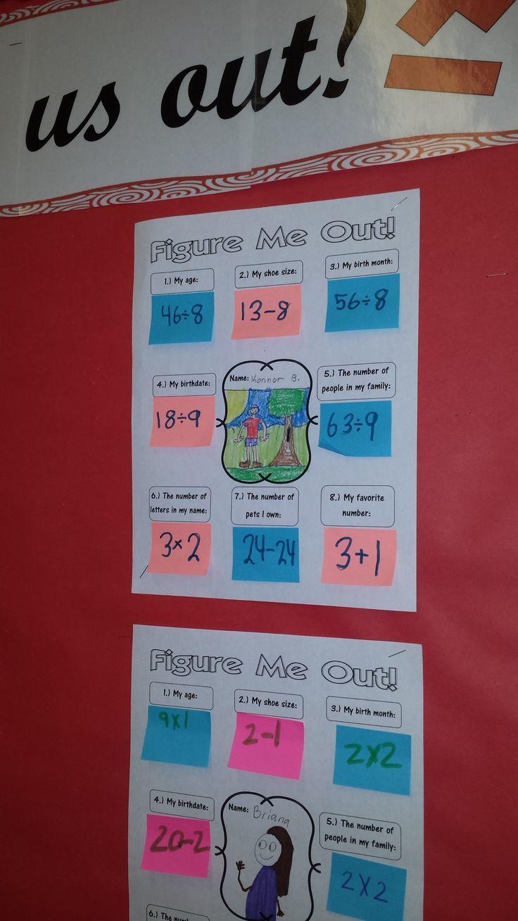 Figure Us Out Math Activity