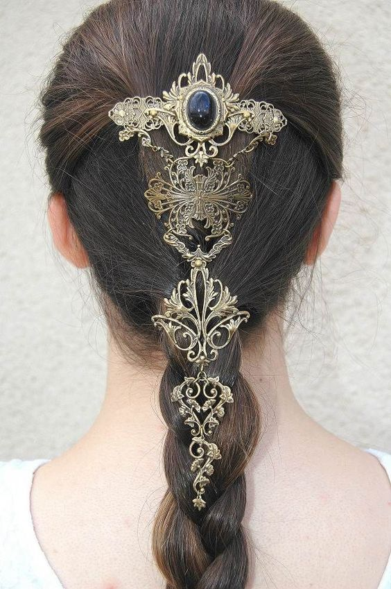 Cute Hairstyles For Curly Hair Hair Pin In 2019 Hair Jewelry Hair Ornaments Hair