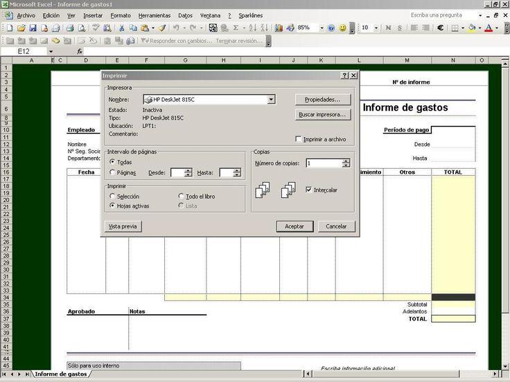 Vista preliminar de Excel hojas de cálculo #Excel http://blgs.co/7_lp0I