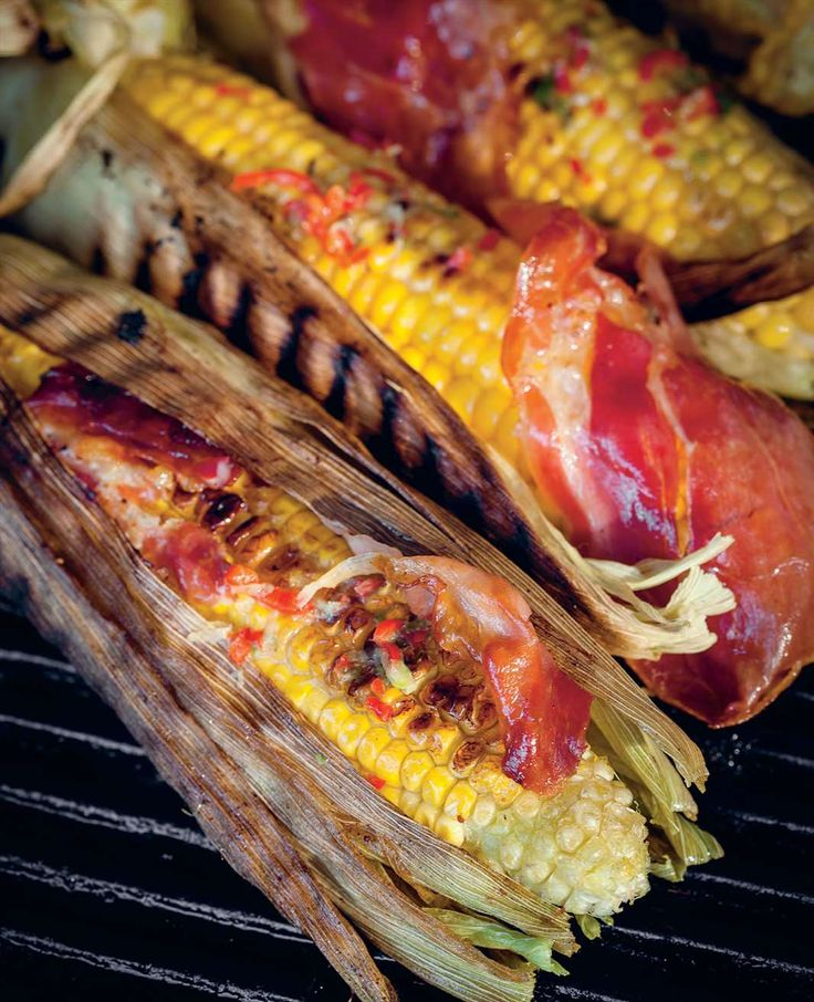 Barbecued corn with bacon and chilli butter by Ben O'Donoghue from Ben's BBQ Bible | Cooked