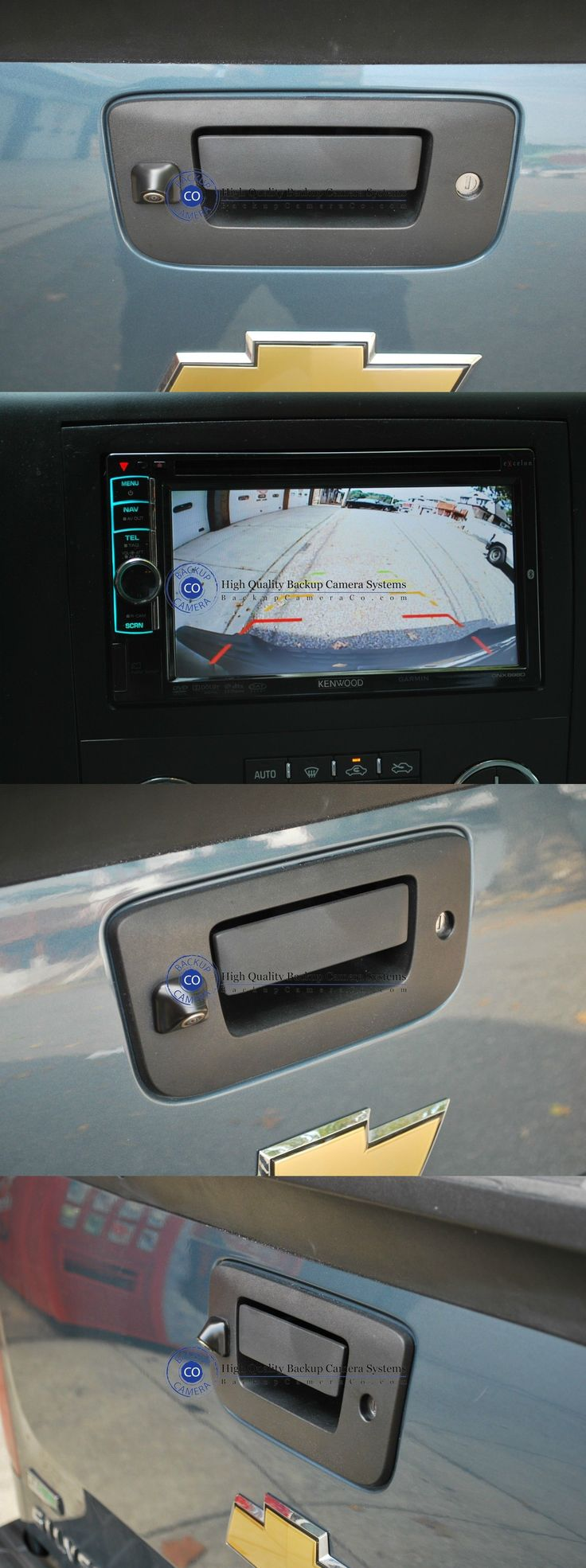 Rear View Monitors Cams and Kits: Tailgate Handle Backup Camera Kit For 2007-2014 Chevy Silverado And Gmc Sierra -> BUY IT NOW ONLY: $60.44 on eBay!