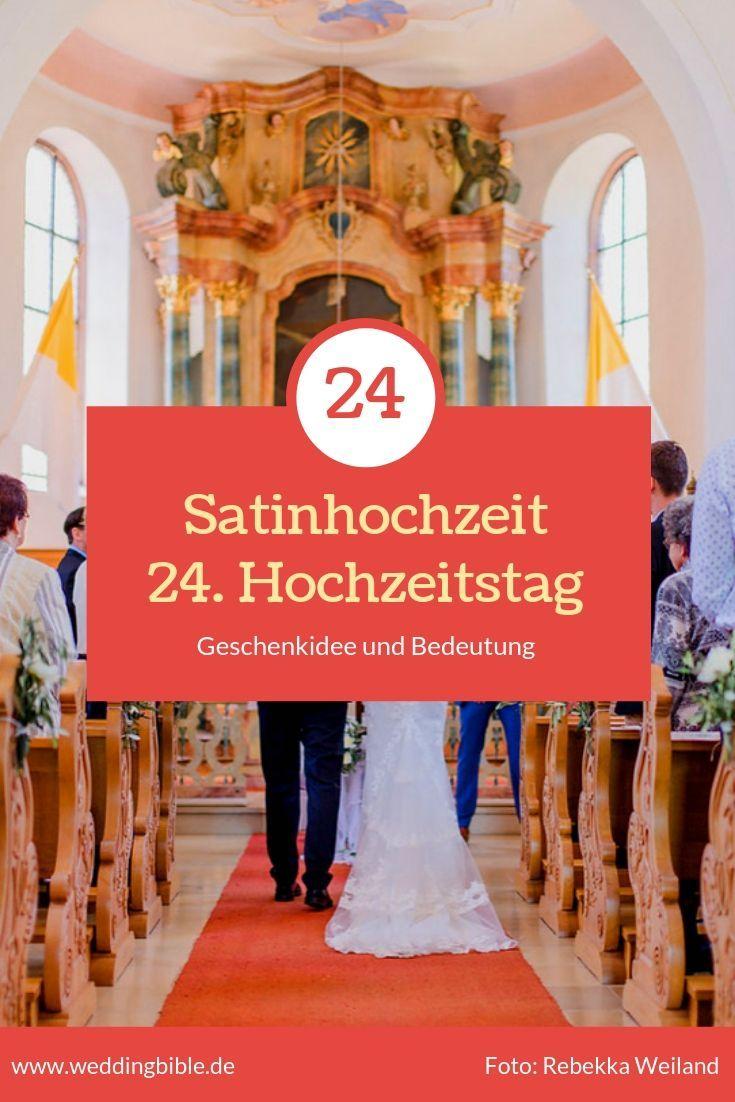 Satinhochzeit - der 24. Hochzeitstag seine Bedeutung und