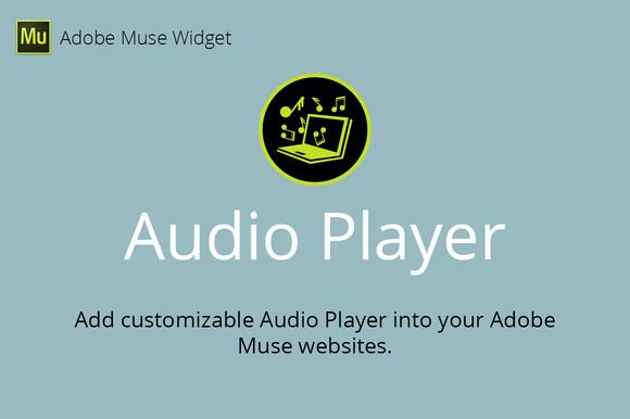 Audio Player Adobe Muse Widget by MuseTemplatesPro on @creativemarket