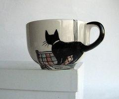 ...Cat Tail, Kitty Cat, Cat Mugs, Coffe Cups, Teas, Cat Cups, Cat Lovers, Black Cat, Cat Lady