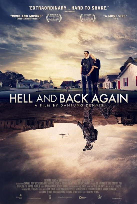 "Cartaz do documentário ""Hell and Back Again""."